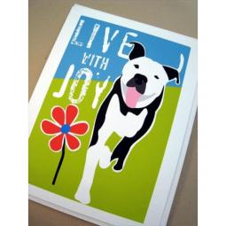 Pit Bull Joy Note Cards